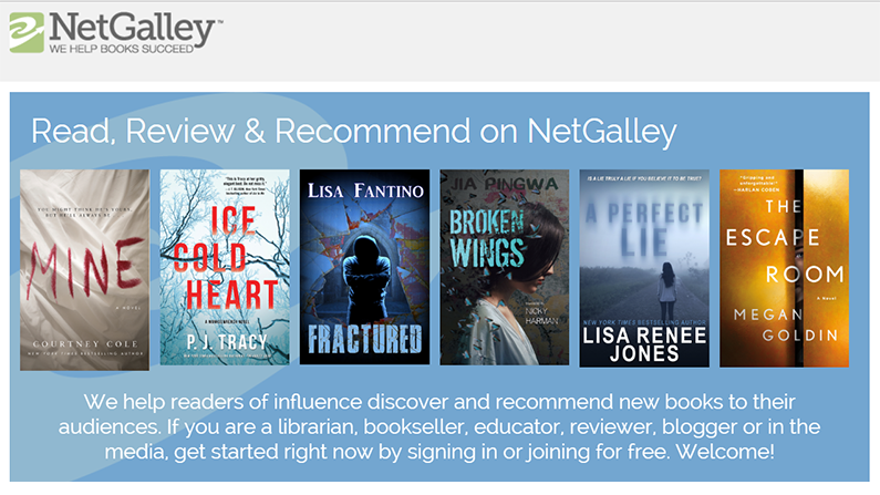 NetGalley in progress