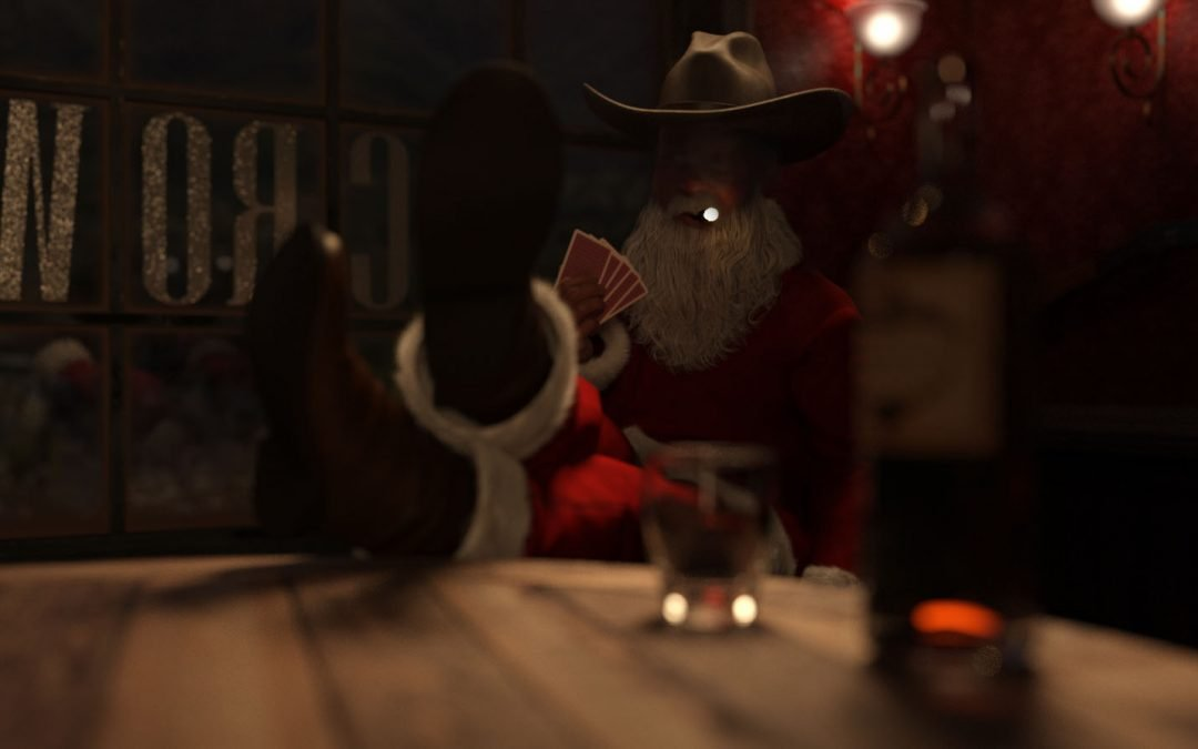 Santa in a Saloon